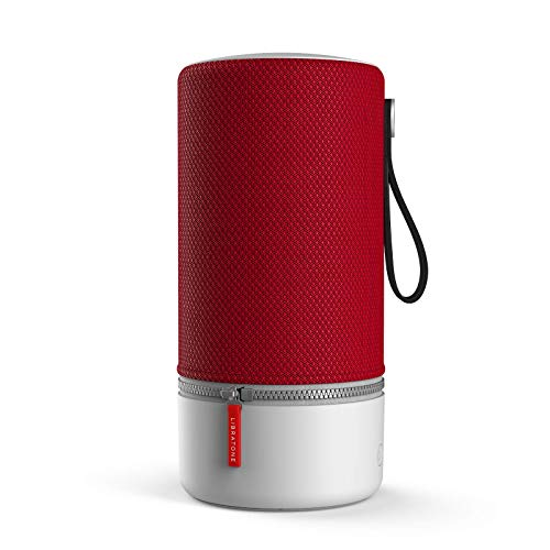 Libratone ZIPP 2 Smart Wireless Lautsprecher (Alexa Integration, AirPlay 2, MultiRoom, 360° Sound, Wlan, Bluetooth, Spotify Connect, 12 Std. Akku) cranberry red