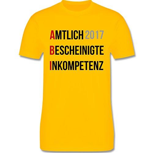 Abi & Abschluss - ABI 2017 - Amtlich Bescheinigte Inkompetenz - Herren Premium T-Shirt Gelb