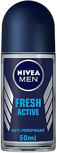 NIVEA MEN Fresh Active, Antiperspirant for Men, Fresh Scent, Roll-on 50ml