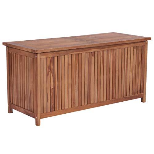 Esta caja de almacenamiento de madera emana un encanto rústico y será un excelente aporte para su espacio al aire libre o interior. El banco de almacenamiento está hecho de madera de teca, que es maciza, duradera y resistente a la intemperie. Tiene u...