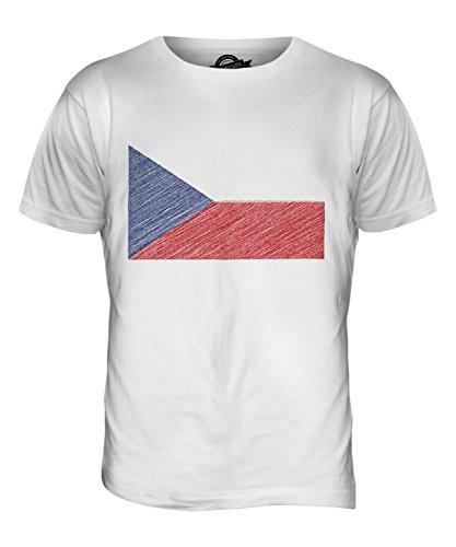 CandyMix Tschechien Kritzelte Flagge Herren T Shirt Weiß