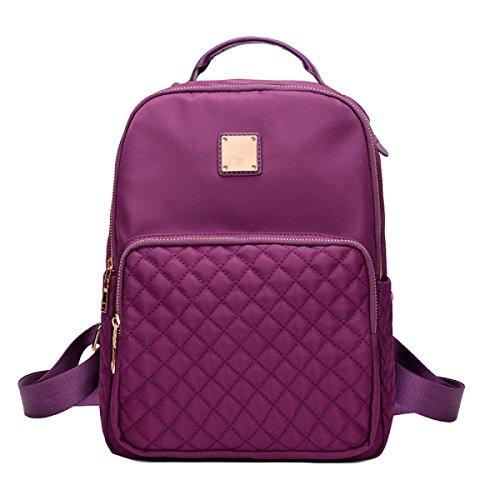 Damen Schultertasche Mode Wilden Einfachen Nylon Oxford Leinwand Sport Rucksack Purple