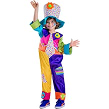 Dress Up America - Disfraz de payaso de circo  para niños, multicolor, talla S, 4-6 años (851-S)