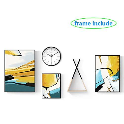Kunst-Abziehbilder Aufkleber Dekor Wandfoto mit Hochwertiges Holz Rahmen Perfekt für Sofa Wall Decor Früher Fram Enthalten