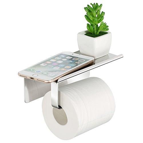 Merisny Toilettenpapierhalter mit hochwertigem Edelstahl 304, Patentierter Kleber + Selbstklebender 3M-Kleber im Badezimmer (Toilettenpapierhalter)