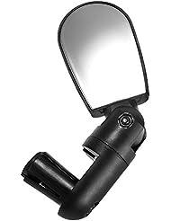 CARCHET® Espejo Retrovisor de Manillar ABS para Bicicleta Bici MTB Negro