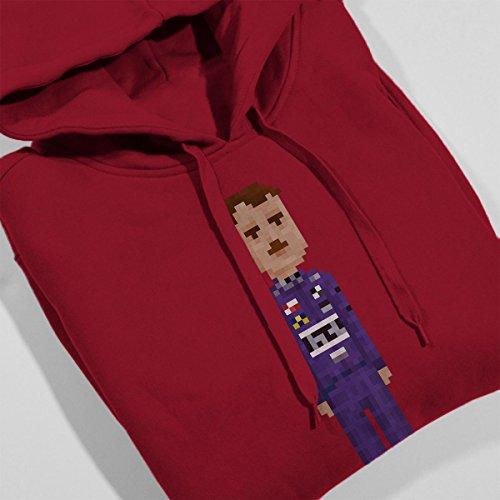 Pixel Nigel Mansell Women's Hooded Sweatshirt Cherry Red