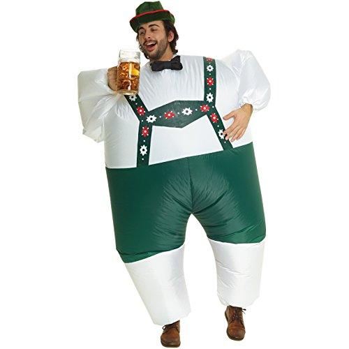 Lederhosen aufblasbare Kostüm - eine Größe passt am - Kleine Grüne Männer Kostüm