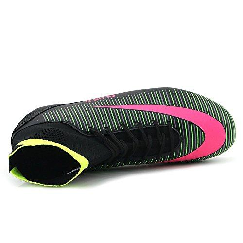 BOLOG Größe EU35-45 Fußballschuhe AG Spike Microfaser Cleats Beruf Athletics High Top(fußballschuhe mit socken) Schwarz