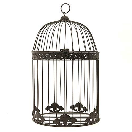 chemin_de_campagne Chin_DE_Land Großer Vogelkäfig, Deko, rund, braun, 50 cm x 30 cm (Runde Vogelkäfige Große)