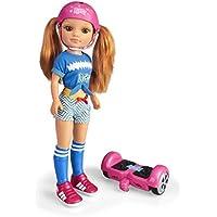 Nancy - Un Día con Mi Hoverboard, Muñeca Mecánica con Patinete Hoverboard para Niños y Niñas a Partir de 3 Años, Multicolor (Famosa 700015134)