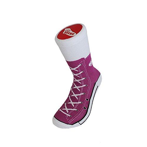 Bluw-Silly-Socks-Shoe-Print-Novelty-Socks-2-Purple-Sneakers-Adult-3-7