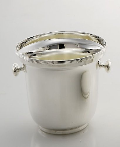 Silver plated Ice bucket Rubans Croises style - art. 5019416 - Lan. 16 cm - Bre. 16 cm - Hoh. 15 cm - Ø16 cm - SWEET HOME by Varotto & Co. Silver Plated Ice Bucket