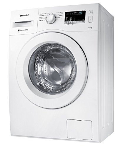 Samsung 6 kg Fully-Automatic Front Loading Washing Machine (WW60M206LMW/TL, White)