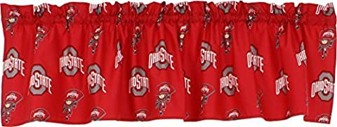 College Covers Ohio State Buckeyes Printed Curtain Valance - 84 x 15 by College Covers