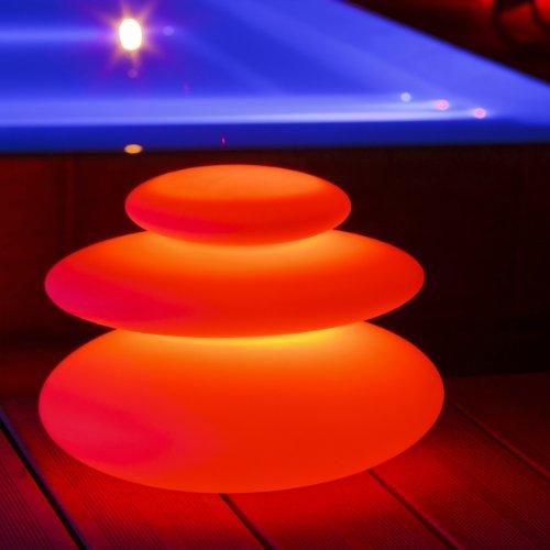 LED Deko-Light by S&G Zen-Wohlfühllicht kabellose LED Leuchte für Den Innen und Außenbereich, Weiß, 42 x 32 x 28 cm