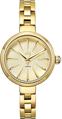 JBW Emerald Reloj DE Mujer Cuarzo 34MM Correa DE Acero Chapado Oro J6326A