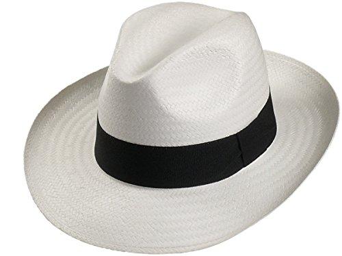Leichter Hut in 3 Farben große Bogartform!, Farben:weiss, Kopfgröße:63