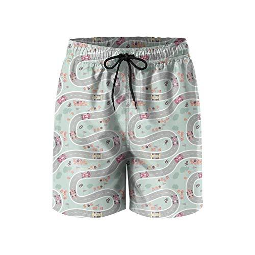 KKONEDS Men's Sports Running Swim Board Shorts with Pocket No Mesh Lining,Personality Beach Shorts Trucks Pants Mens Quick Dry Beach Shorts XX-Large (Shorts Danskin Running)