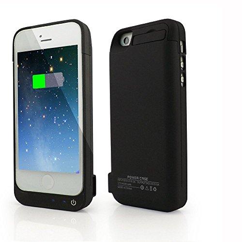 Cover batteria per iphone se/5s/5c, 4200mah custodia ricaricabile con batteria esterna caricabatterie cover battery case per iphone se/5s/5c batteria protettiva power bank charger case