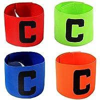 ASEOK Fútbol capitán del brazal, Fútbol C Estándar elástico Brazalete para niños, Velcro retráctil, Adecuado para Muchos Tipos de Deportes elásticos brazaletes (4)