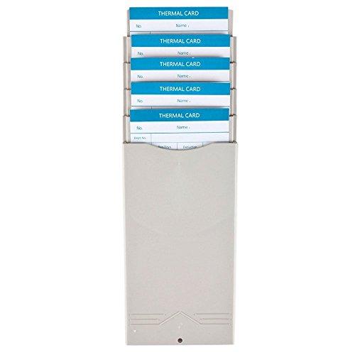 Flexzion Erweiterbare Time Card Rack-Slots Wand Durable Halter montiert Kompatibel mit Anwesenheitszeit Payroll Recorder-Taktgeber für Büroraum Indoor Outdoor Nutzung (Beige) 1 5 Taschen Grau