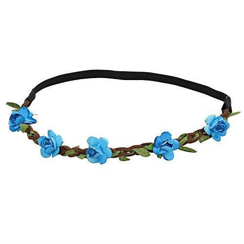 Haarband Stirnband - TOOGOO (R) Dame Blumen Haarband Stirnband Festival Party Hochzeit blau