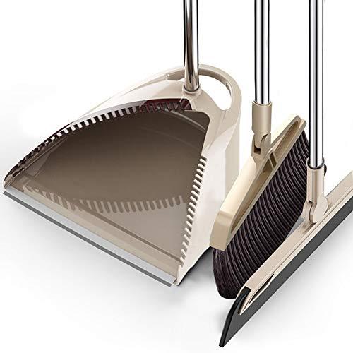 Besen Set Lobby Besen mit Kehrschaufel Home Küche Büro Badezimmer Komfort Griff Flexible & Durable Kehrmaschine für Hartholz Fußboden