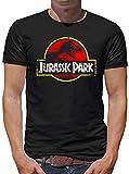 Touchlines Merchandise Jurassic Park Distressed Logo T-Shirt Herren XXL Schwarz
