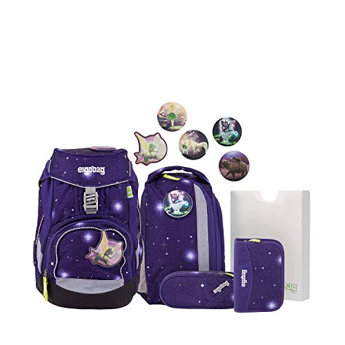 Ergobag School Backpack Set (Set of 6) Galaxy Glow Edition Pack Materiale sintetico 20 I