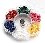 Prym Love Snaps - Caja de herramientas (72 piezas, tamaño pequeño), varios colores