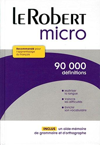 LeRobert Micro Dictionnaire D'Apprentissage du Francais