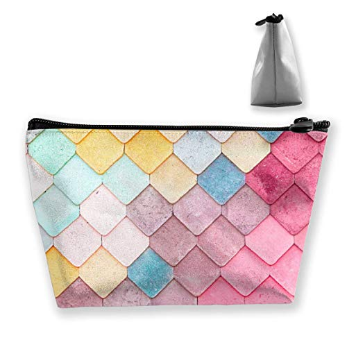 Colorful Roof Tiles Pattern Womens Travel Cosmetic Bag Portable Toiletry  Brush Storage High Capacity Pen Pencil 6321d0fb8e018