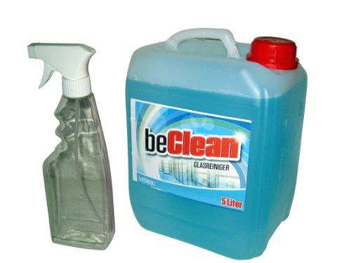 glasreiniger-beclean-clear-5l-kanister-mit-einer-spruhflasche