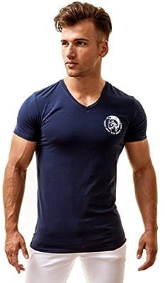 Diesel Men's V-Neck T-Shirt Michael Industry
