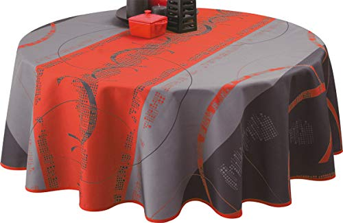 Nappe anti-taches Astrid rouge - taille : Ovale 150x240 cm