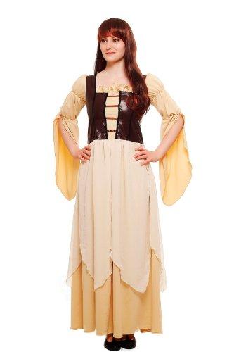 Damen Damenkostüm Kleid Mittelaltermarkt Romantik Mittelalter Magd Gothic L055 Gr. 38 / S (Magd Mittelalter Kostüm)