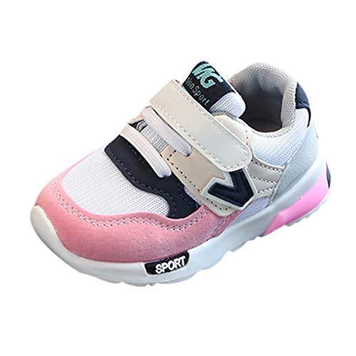 Laufschuhe Kinder Unisex, Sunday Junge Mädchen Casual Baby Turnschuhe Winter Sportschuhe Outdoor Runningschuhe Wanderschuhe Sternchen Schuhe k-45 (22 EU, Rosa-NO LED)