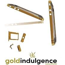Auténtica 24ct chapado en oro marco de iPhone 4 G placas de repuesto chasis con botones/de teclas de, soporte de tarjeta Sim para tornillos y