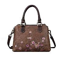 Bansusu Retro Flora Top-handle Bag for Girls Women Vintage Shoulder Bag Handbag