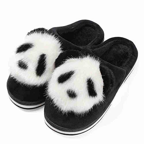 Nsbm scarpe pantofole pantofole da donna cute cartoon animation pantofole da donna antiscivolo supantofolecaldepantofole da casa interne, nere, 37