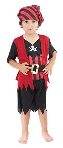 Piraten-Jungen - Kinder-Kostüm - Kleinkind - 90 bis 104cm