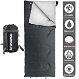 FUNDANGO Lightweight Sleeping Bag Compact Waterproof Rectangular/Envelope Cozy Portable Summer Backpacking Camping Hiking