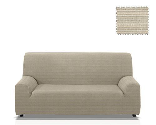 JM Textil Elastische Sofa-Husse Moraig Größe 4 Sitzer (Von 210 bis 240 cm), Farbe Marfil (Mehrere Farben verfügbar)
