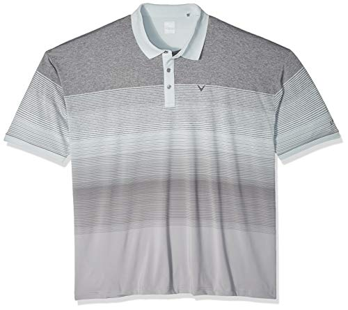 Callaway Herren Short Sleeve Yarn Dye Stripe Polo Perle/Blau, 6X-Large Big -