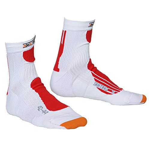 X-Socks Skating Pro Socken 2018 White/Red, 42-44