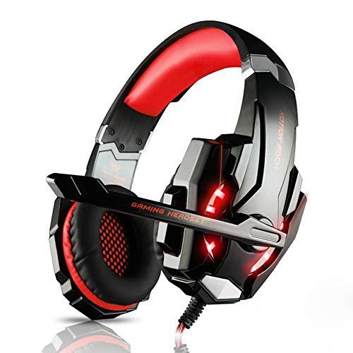 Plantronics Usb-gaming-headsets (aoile Gaming Headset Playstation PS4Tablet PC 3,5mm Kopfhörer Mikrofon Laptop Rot Schwarz/Rot)