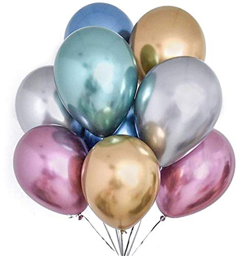 PuTwo Chrome Balloons, 50 pcs 12...