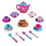 Vajilla Cafe Juguete Juego de Té Set de Café Cocina Alimentos Juguete con Accesorios Cocinita Picnic Juguete para Infantiles Niñas Niños 3 4 5 Años, 19 Piezas