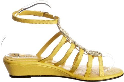 Unze Evening Sandals, Damen Sandalen Gelb (L18314W)